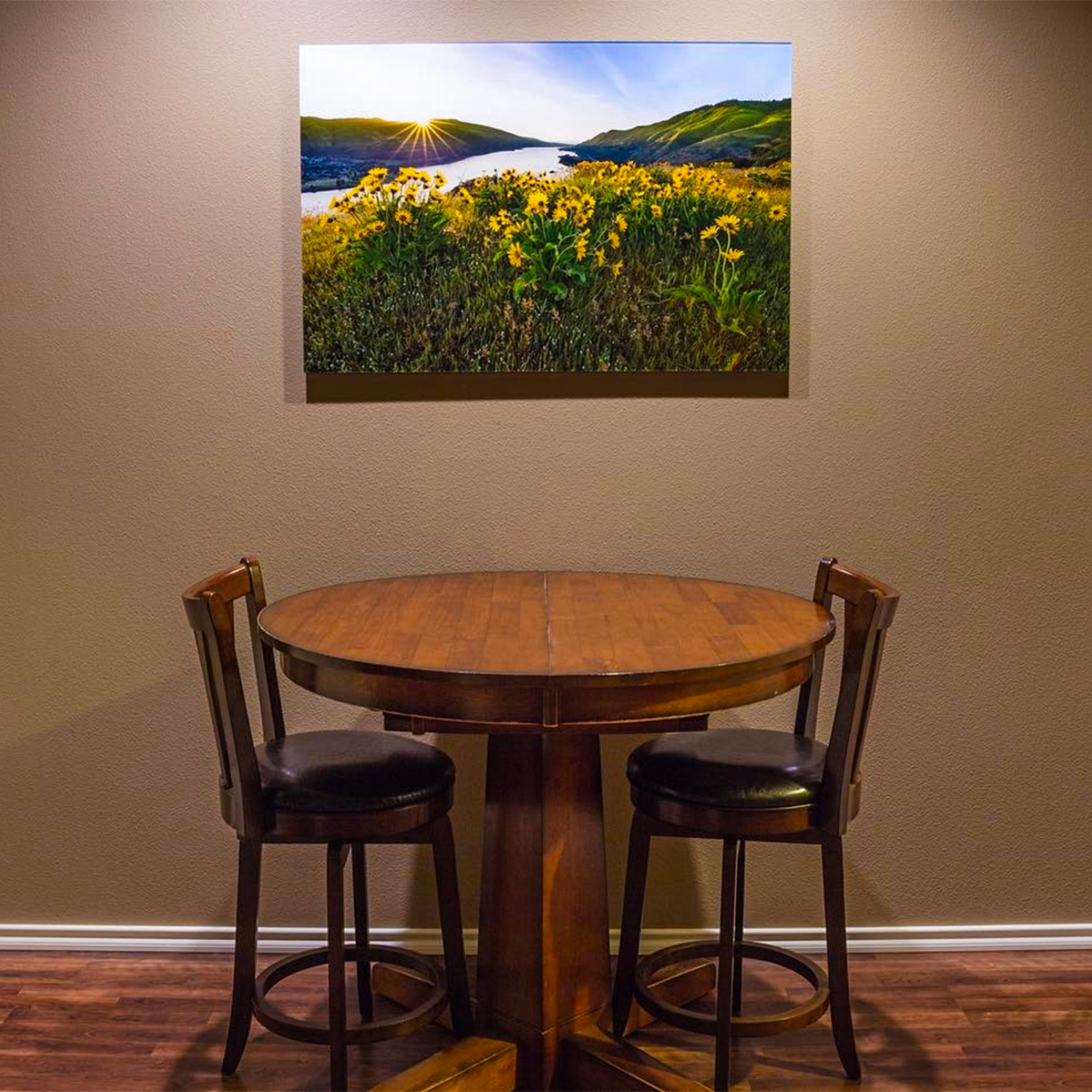 Acrylic Face Mount Print in Dining Room - Face Mounting Photos to Acyrlic