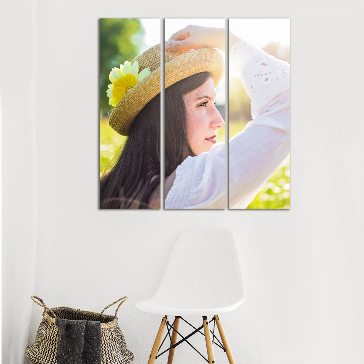wall art gallery clusters and splits girl